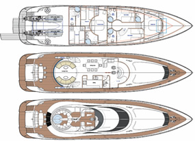 Plans of Flybridge motoryacht